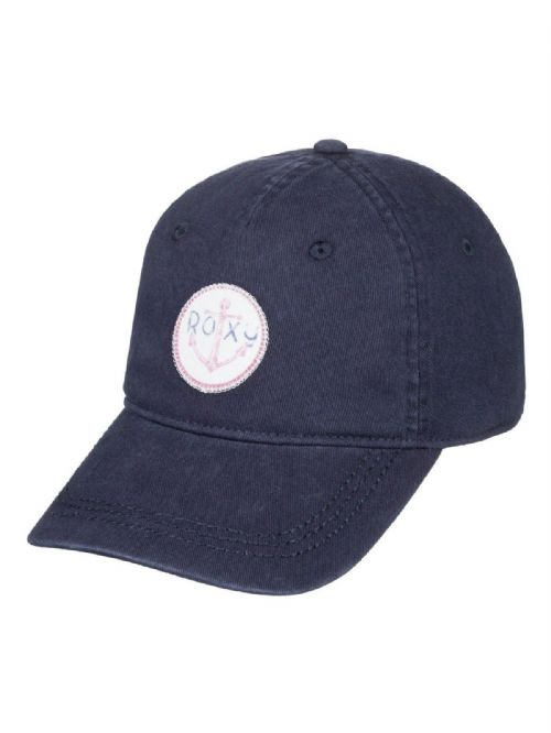 ROXY WOMENS BASEBALL CAP.DEAR BELIEVER PATCH NAVY COTTON ADJUSTABLE HAT 9S 53 BT
